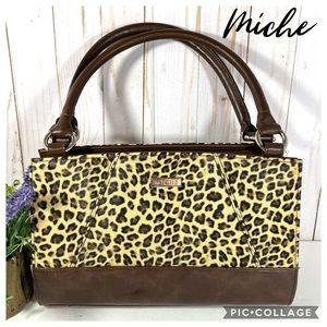 Miche handbag leopard print faux leather